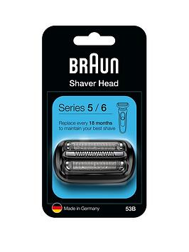 Braun Series 5 53B Electric Shaver Head Replacement - Black