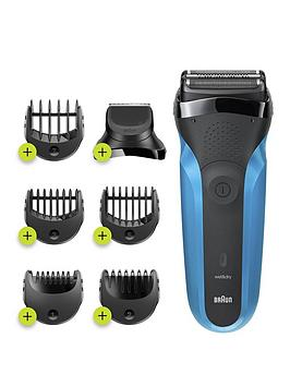 Braun S3 Shave &Amp; Style 310Bt Electric Shaver, Wet &Amp; Dry Razor For Men