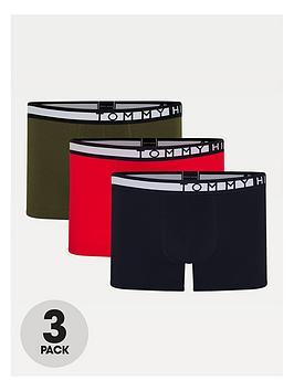 tommy-hilfiger-3-pack-trunks-khakirednavy