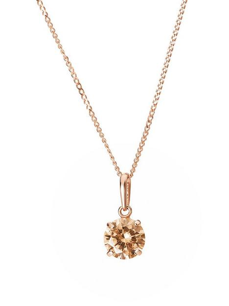 love-gold-9ct-rose-gold-6mm-champagne-cubic-zirconia-pendant-necklace