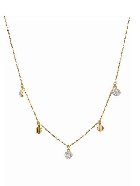 evoke-gold-plated-sterling-silver-clear-swarovski-crystals-disc-station-necklace