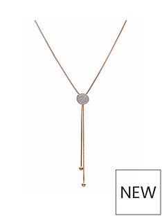 evoke-rose-gold-plated-sterling-silver-clear-swarovski-crystals-disc-box-chain-lariat-necklace