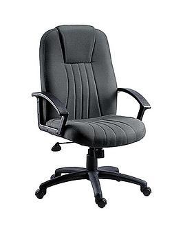 teknik-office-preston-fabric-office-chair-grey