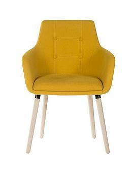 teknik-office-eve-4-legged-office-chair-yellow