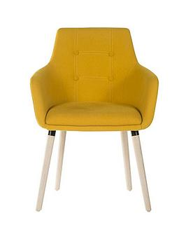 Teknik Office Eve 4 Legged Office Chair - Yellow