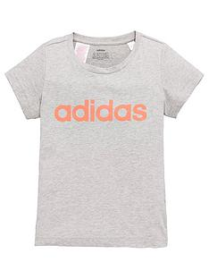 adidas-youth-girls-essentials-linear-t-shirtnbsp--grey