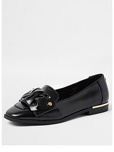 river-island-tie-bow-loafer-black
