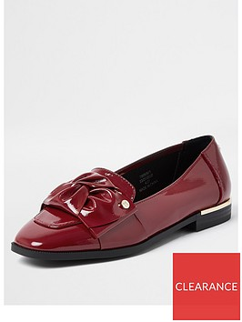 river-island-tie-bow-loafer-red