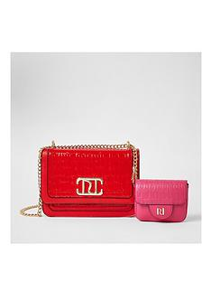 river-island-ri-branded-satchel-with-clip-on-purse-red