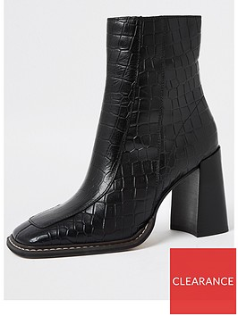 river-island-croc-detail-square-toe-leather-boot-black