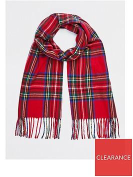 river-island-check-tartan-scarf-red