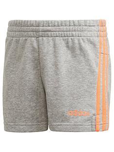 adidas-youth-girls-e-3-stripe-shorts