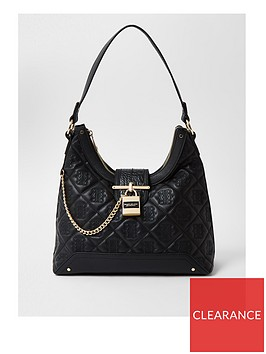river-island-quilted-stud-padlock-slouch-bag-black