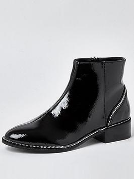 river-island-diamante-detail-flat-boot-black