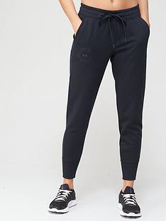 under-armour-rival-fleece-metallic-joggers-black