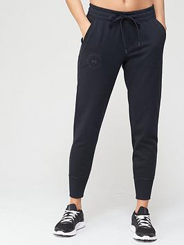 under-armour-rival-fleece-metallic-joggers-black