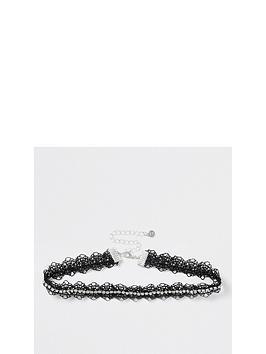river-island-lace-choker-with-diamante-trim-black