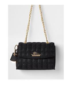 river-island-branded-quilted-satchel-bag-black