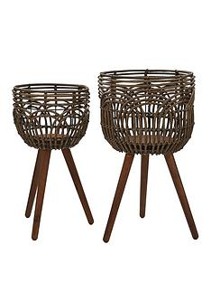 set-of-2-rattan-style-standing-planters