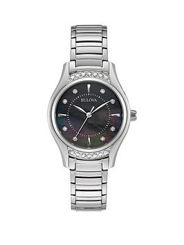 bulova-black-mother-of-pearl-and-diamond-dial-stainless-steel-bracelet-ladies-watch