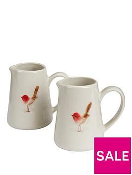 gisela-graham-set-of-2nbspceramic-christmas-robin-mini-jugs