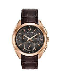 bulova-bulova-curv-black-and-rose-gold-chronograph-dial-brown-leather-strap-mens-watch