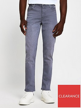 river-island-ray-slim-fit-jeans-grey