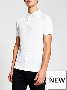 river-island-short-sleeve-knitted-polo-shirt-whitenbsp