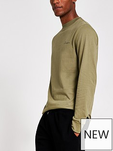 river-island-long-sleeve-prolific-top-green