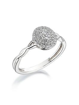 love-diamond-9ct-white-gold-25-point-cluster-diamond-infinity-band-ring