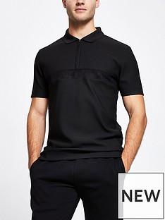 river-island-luxe-polo-shirt-black