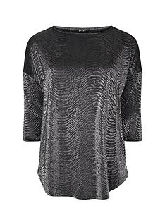 evans-silver-animal-curved-hem-top