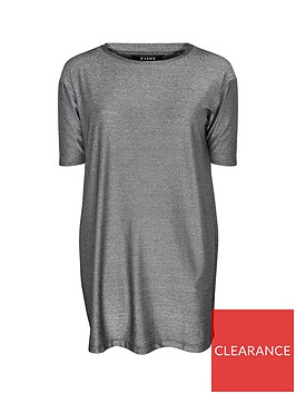 evans-three-quarter-sleeve-relaxed-tunic-silver