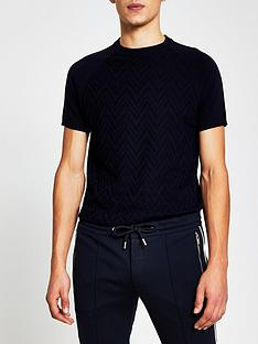 river-island-textured-knitted-t-shirt-black