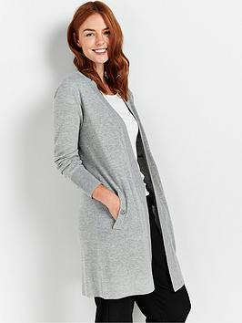 wallis-wool-blend-cardigan-grey