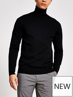river-island-long-sleeve-premium-roll-neck-black