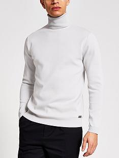 river-island-long-sleeve-premium-roll-neck-grey