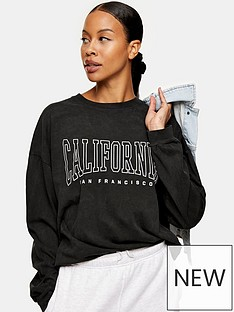 topshop-cali-long-sleeve-skater-t-shirt-black