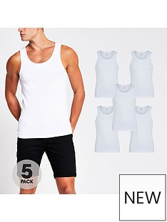 river-island-white-ss-muscle-vest-5-pack