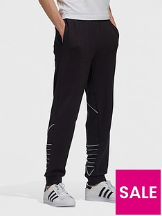 adidas-originals-adidas-originals-big-trefoil-outline-sweat-pants-blackwhite
