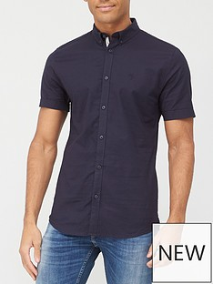 river-island-muscle-oxford-shirt-navynbsp