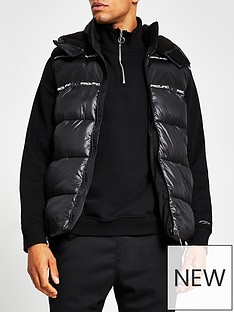 river-island-wetlook-prolific-hooded-gilet-black