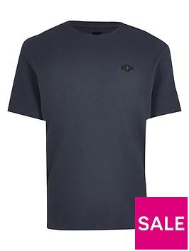 river-island-waffle-t-shirt-slate-grey