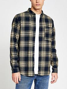 river-island-graphic-check-long-sleeve-shirtnbsp--navystone