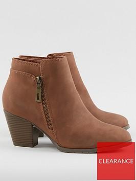 wallis-side-zip-block-heel-casual-boot-tan