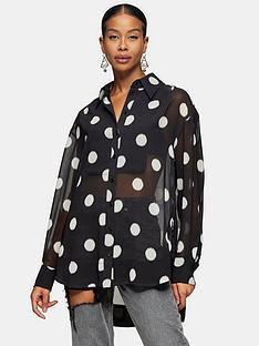 topshop-spot-oversized-blouse-black