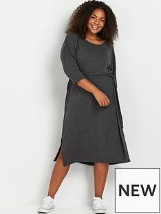 evans-belted-dress-greynbsp
