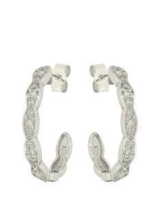 moissanite-9ct-white-gold-hoop-earrings