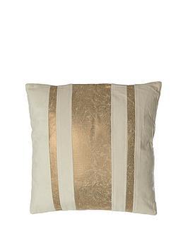 Premier Housewares Kensington Townhouse Crush Cushion - Gold