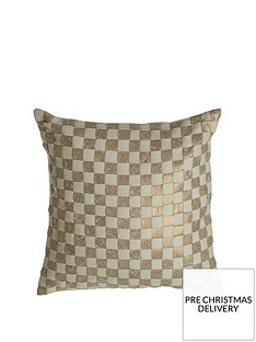 premier-housewares-kensington-townhouse-checkerboard-cushion-gold